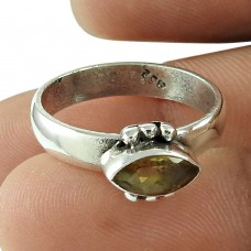 Scenic Citrine Gemstone Ring Sterling Silver Jewellery Supplier India