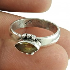 Stunning Citrine Gemstone Ring Sterling Silver Jewellery Exporter India