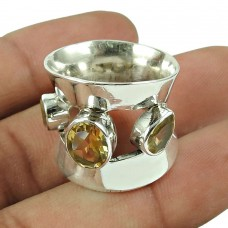 Perfect Citrine Gemstone Ring Sterling Silver Jewellery