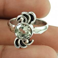 Beautiful Crystal Gemstone Ring Sterling Silver Jewellery