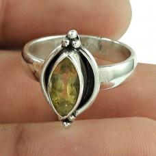 Charming Citrine Gemstone Ring 925 Sterling Silver Vintage Jewellery