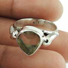 Party Wear Citrine Gemstone Ring Sterling Silver Fashion Jewellery Wholesale Price