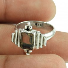 Lovely Smoky Quartz Gemstone Ring Indian Sterling Silver Jewellery