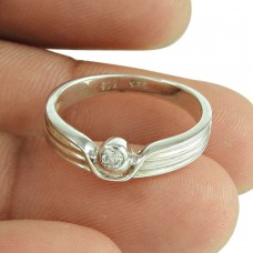 Scenic White C.Z Ring Sterling Silver Jewellery