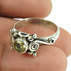 Lustrous Citrine Gemstone Ring 925 Sterling Silver Fashion Jewellery