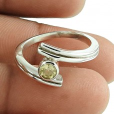 Good-Looking Citrine Gemstone Ring 925 Sterling Silver Antique Jewellery Fournisseur