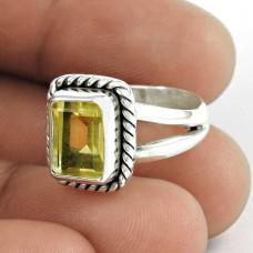 Simple 925 Silver Citrine Ring Großhändler