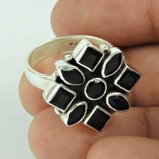 New Design!! 925 Silver Black CZ Ring