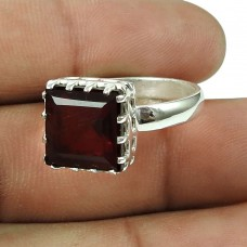 Lovely Glass Gemstone Ring Indian Sterling Silver Jewellery