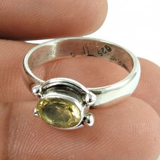 Amusable Citrine Gemstone Ring 925 Sterling Silver Jewellery Hersteller
