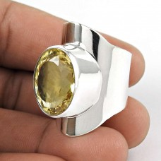 Maya Freedom!! 925 Silver Citrine Ring