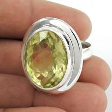 Lavender Dreams Lemon Quartz Sterling Silver Ring