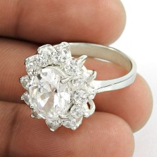 Classy Crystal, CZ Sterling Silver Ring