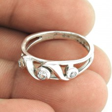 Pale Beauty ! CZ Gemstone 925 Sterling Silver Ring Supplier India