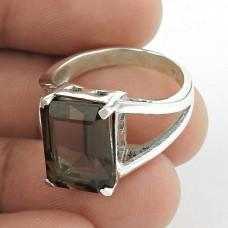 Gorgeous! 925 Silver Smoky Quartz Ring