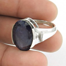 Huge Modern Style! Iolite 925 Sterling Silver Ring