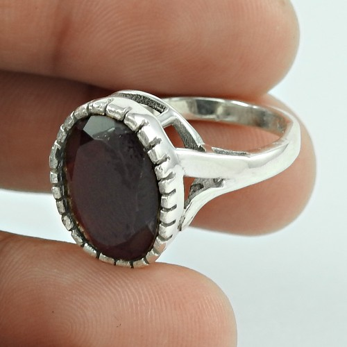 New Fashion! 925 Silver Garnet Ring