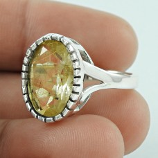 Secret Design! 925 Silver Golden Rutile Ring