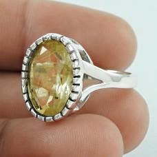 Secret Design! 925 Silver Golden Rutile Ring