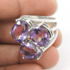 Gorgeous Design! 925 Silver Amethyst Ring Proveedor