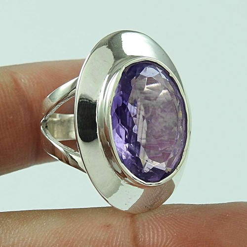 Delicate Light! 925 Silver Amethyst Ring Wholesaling