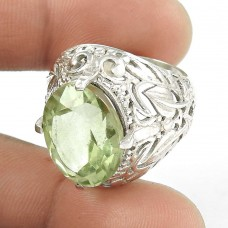 Gorgeous 925 Silver Green Amethyst Ring