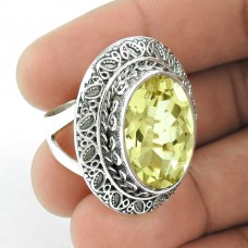 Lilac Kiss! 925 Silver Citrine Ring Fournisseur