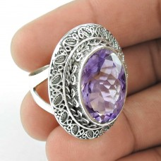 Delicate Light! 925 Silver Amethyst Ring