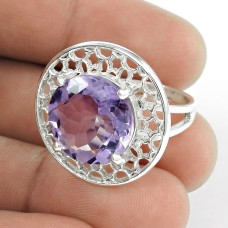 2018 Fashion !! Amethyst 925 Sterling Silver Ring