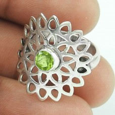 Passionate Love! Peridot 925 Sterling Silver Ring Exporter India