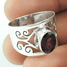 Best Design !! Garnet 925 Sterling Silver Ring