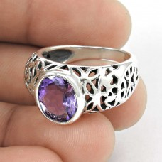 2018 Fashion! Amethyst 925 Sterling Silver Ring Manufacturer India
