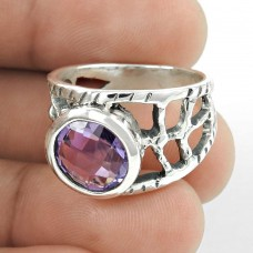 Big Relief Stone !! Amethyst 925 Sterling Silver Ring