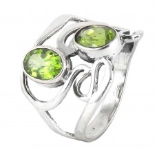 Caribbean Sea !! Peridot 925 Sterling Silver Ring