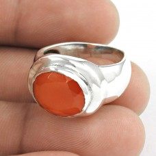 Abstract! Carnelian 925 Sterling Silver Ring