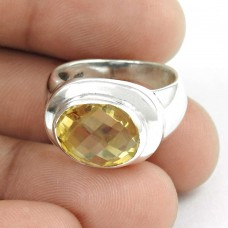 Charming! Citrine 925 Sterling Silver Ring