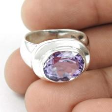Best Design! Amethyst 925 Sterling Silver Ring Proveedor