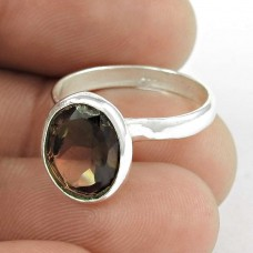 Cloud Song! Smoky Quartz 925 Sterling Silver Ring