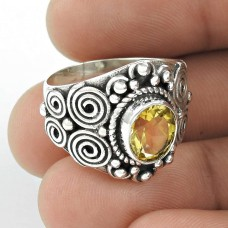 Big New Awesome! Citrine 925 Sterling Silver Ring