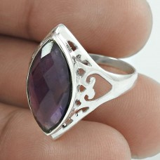 Gorgeous Design! Amethyst 925 Sterling Silver Ring