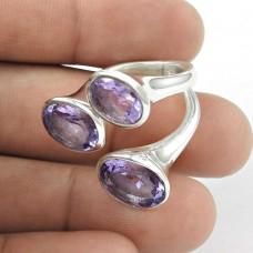Amazing Design! Amethyst 925 Sterling Silver Ring