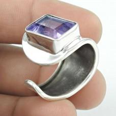 Big Amazing! Amethyst 925 Sterling Silver Ring Fabricant