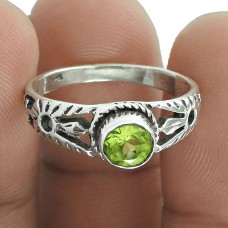 Awesome Design Of!! Peridot 925 Sterling Silver Ring