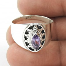 Tropical Glow ! Amethyst 925 Sterling Silver Ring
