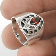 Royal!! Garnet 925 Sterling Silver Ring Großhändler
