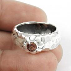 Paradise Bloom ! Garnet 925 Sterling Silver Ring