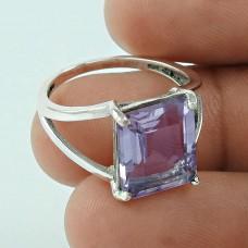 Lovely ! Amethyst 925 Sterling Silver Ring