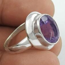 Huge Modern Style! Amethyst 925 Sterling Silver Ring