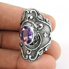 Paradise Bloom!! Amethyst 925 Sterling Silver Ring Wholesale Price