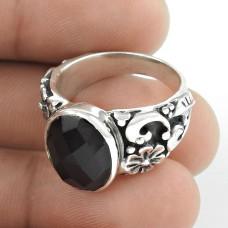 Stunning ! Black Onyx 925 Sterling Silver Ring